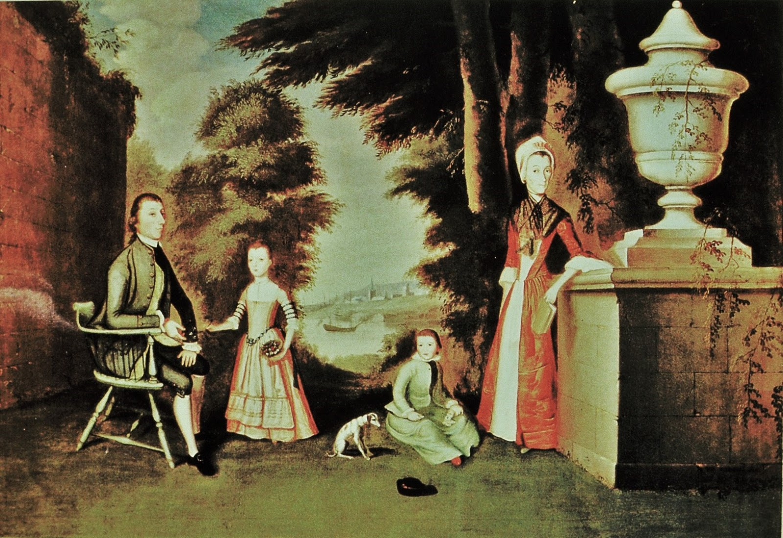 1772 William Williams (1727-1791). The William Denning Family with Dog
