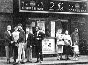 2 I's coffee bar in the 1950s