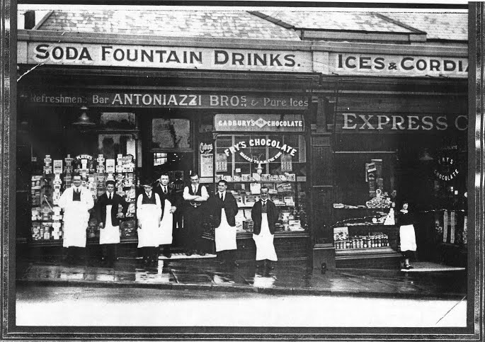 Antoniazzi shop, Caerphilly, 1920s-30s