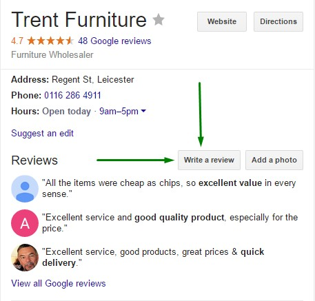 How to leave a new Google review
