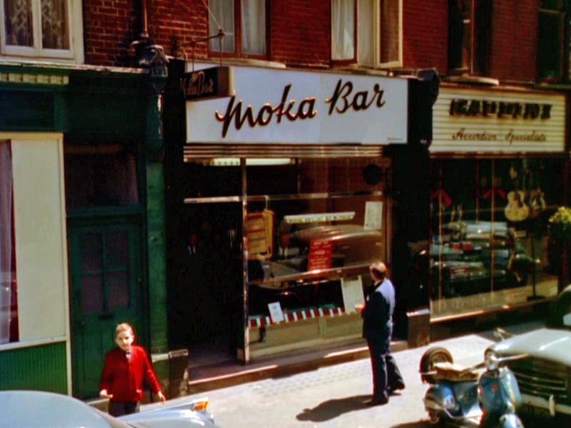 Moka Bar in Frith Street, Soho