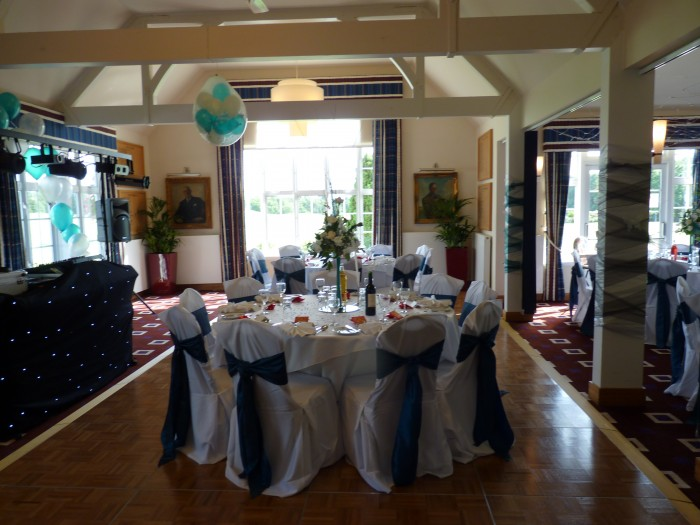 Sandy Lodge dance floor featuring Buckingham aluminium chairs from Trent Furniture