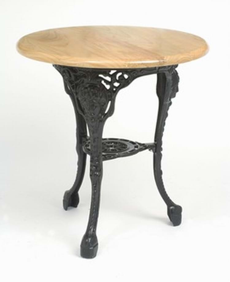 Trent Furniture's Wide Girlshead Table in cast iron