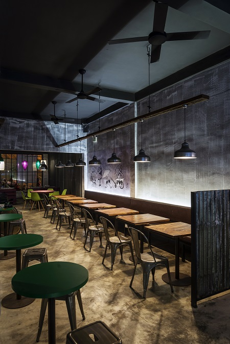 Bare restaurant interior which can cause more noise