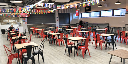 De Montfort University Student Union with new furniture