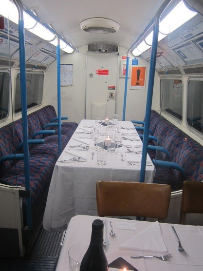 Eating in London underground