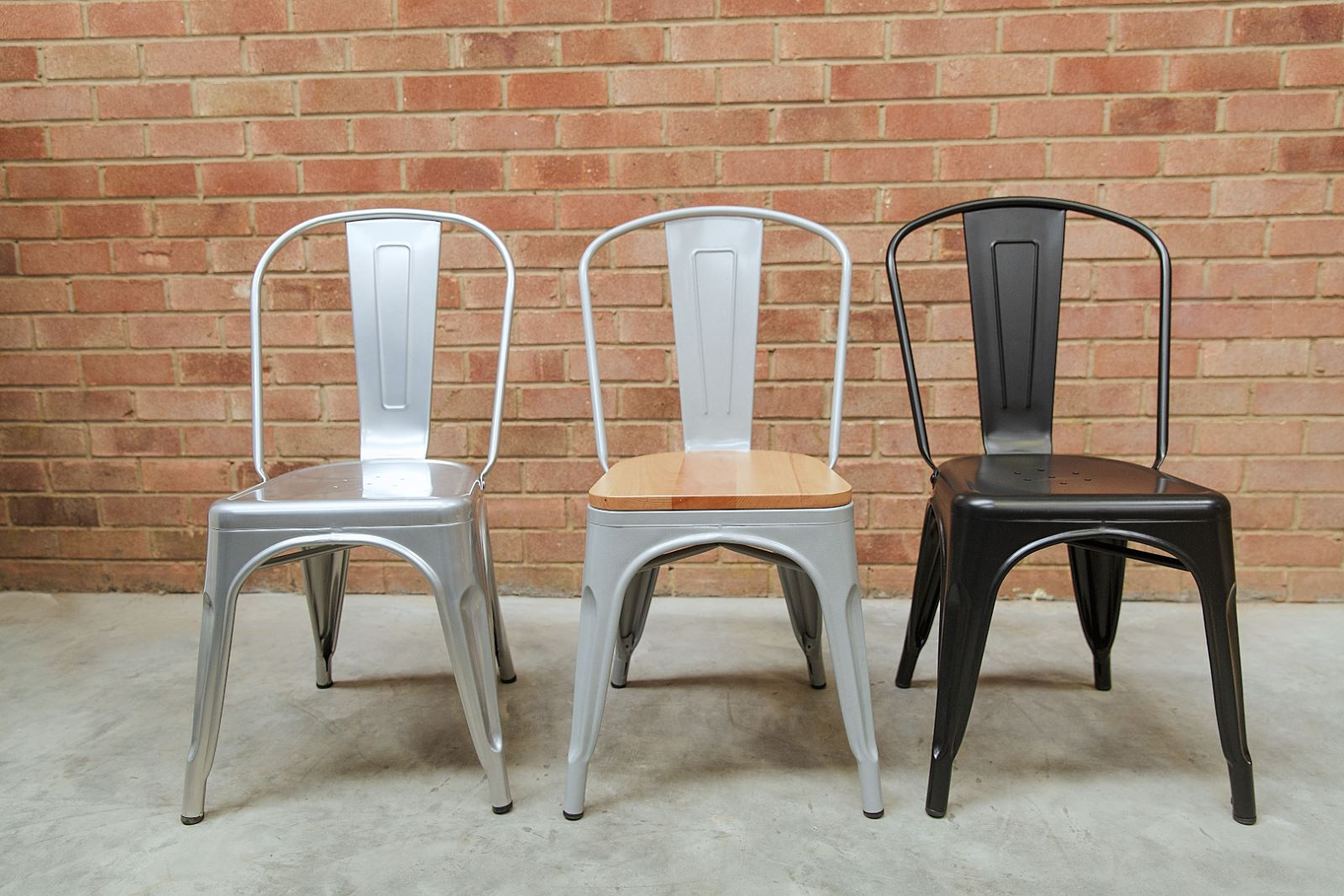 metal stacking chairs - modern design