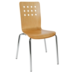 steel legged Roma stacking chairs