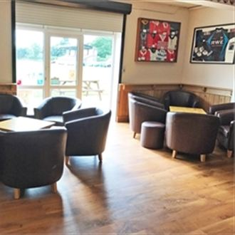 Trent scores a conversion with new rugby club furniture