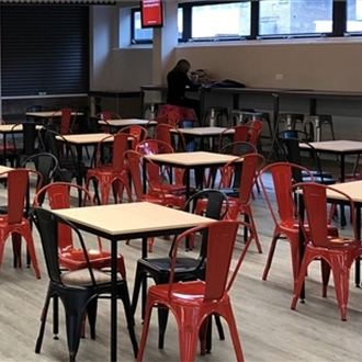 Trent Furniture provide chairs and tables for Student Union's new diner