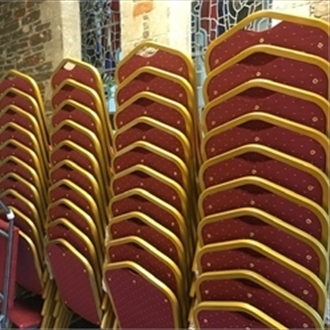 New stacking chairs for The Church of St. Nicolas