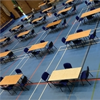 Trent Furniture delivers temporary dining furniture for school