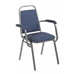 High Quality Harrow Silver Framed Steel Stacking Banquet Armchair from Trent Furniture