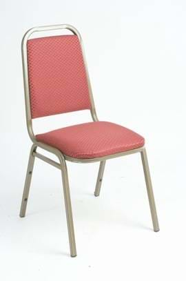 High Quality Harrow Gold Framed Steel Stacking Banquet Chair from Trent Furniture
