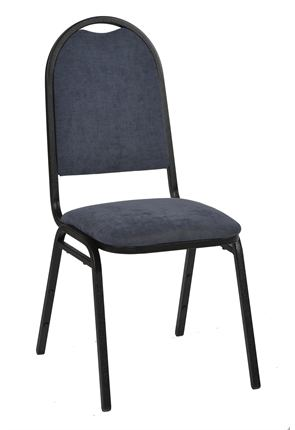 High Quality Cambridge Black Framed Deluxe Steel Stacking Banquet Chair from Trent Furniture