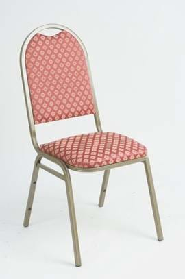 High Quality Cambridge Gold Framed Deluxe Steel Stacking Banquet Chair from Trent Furniture
