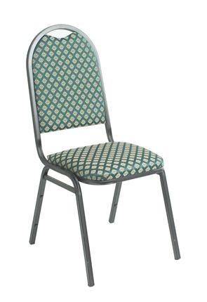 High Quality Cambridge Silver Framed Deluxe Steel Stacking Banquet Chair from Trent Furniture