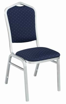 High Quality Buckingham Aluminium Silver Framed Stacking Banquet Chair from Trent Furniture.