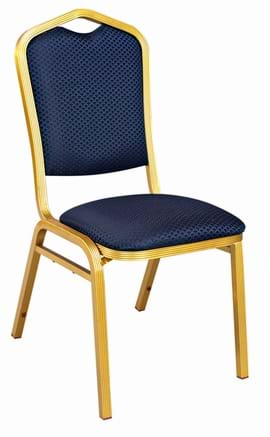 High Quality Buckingham Aluminium Gold Framed Stacking Banquet Chair from Trent Furniture