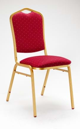High Quality Oxford Gold Framed Steel Stacking Banquet Chair from Trent Furniture