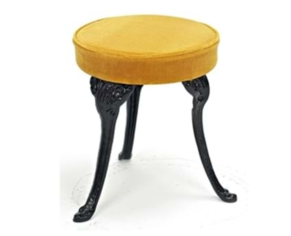Colebrookedale Three Leg Stool in Black