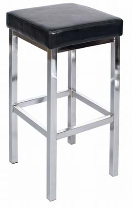 Tall Dakota Chrome Bar Stool from Trent Furniture | Café Furniture
