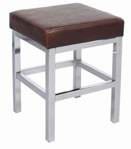 High Quality Small Dakota Chrome Bar Stool from Trent Furniture | Pub Chair