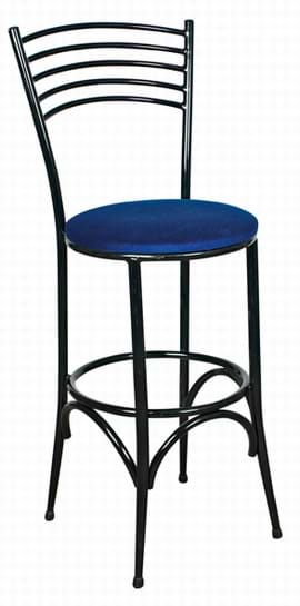 Tall Napoli Black Frame Stool from Trent Furniture | Café Furniture