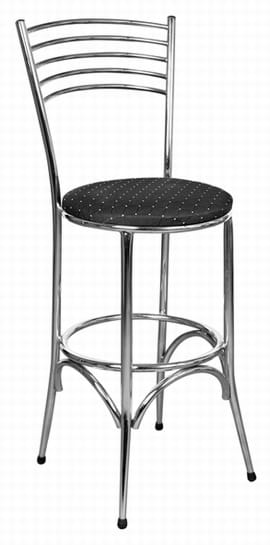 Tall Napoli Chrome Frame Stool from Trent Furniture | Café Furniture
