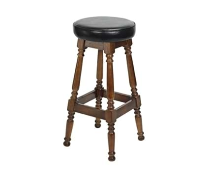 Tall Colonial Stool Piped Top