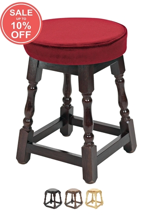 High Quality Small Piped Top Wooden Stool from Trent Furniture | Pub Chair