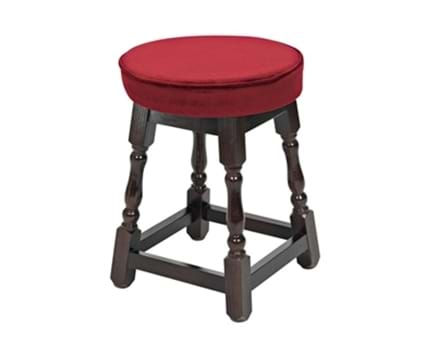Small Wooden Stool Piped Top