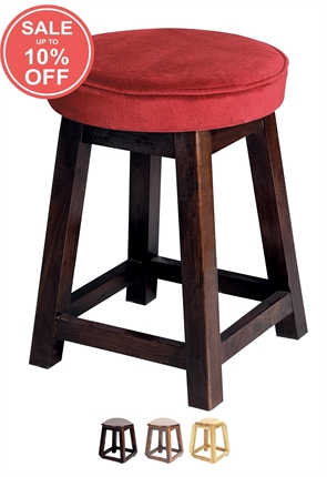 High Quality Small Piped Top Shaker Stool from Trent Furniture | Pub Chair