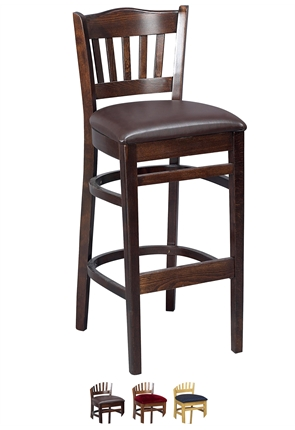 High Quality Tall Boston Bar Stool Upholstered from Trent Furniture | Pub Chair