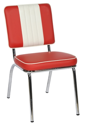 American Diner Chair Classic Red & Cream Bench from Trent Furniture | Café & Restaurant Furniture