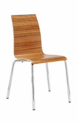 High Quality Zebrano Stacking Chair from Trent Furniture | Café & Restaurant Furniture
