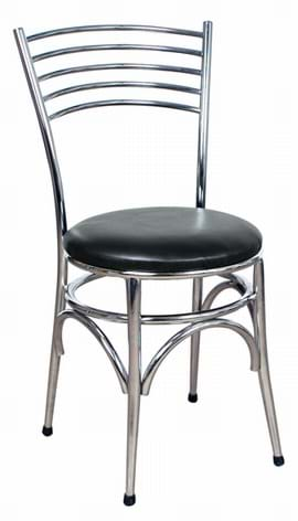 High Quality Napoli Chrome Side Chair from Trent Furniture | Restaurant Chair