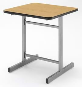 High Quality Silver Square I-Frame Cast Iron Table from Trent Furniture