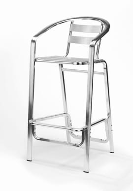 Pressed Aluminium Monaco Tall Aluminium Bar Stool | Outdoor Furniture