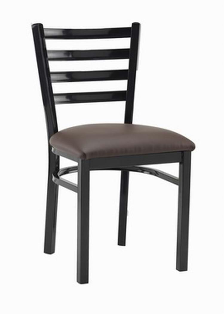 Black Metal Washington Restaurant Chair Trent Furniture Set Of 6 Gun Metal Eton Vintage Retro