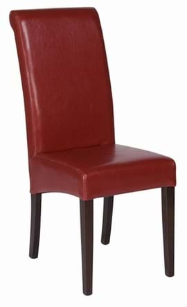 High Quality Red Leather Abbruzzo Restaurant Chair from Trent Furniture