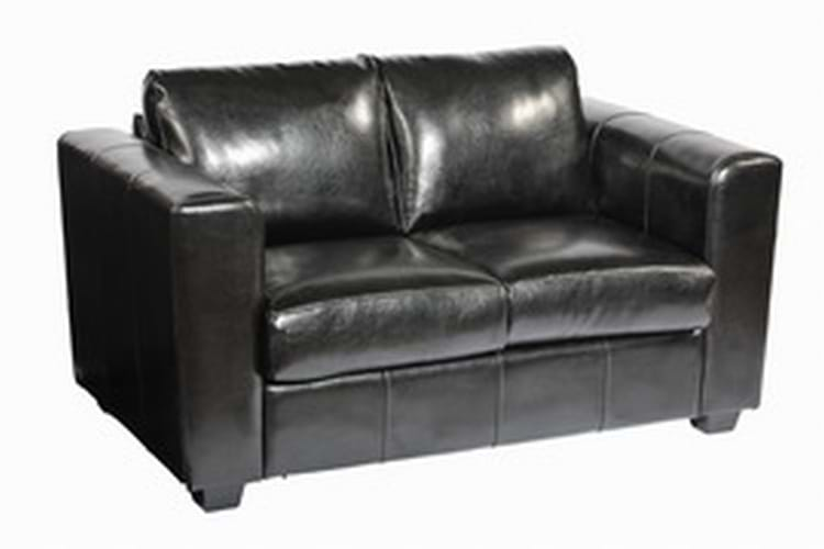 Manhattan Two Seater sofa in Black Faux Leather (SO/2B)