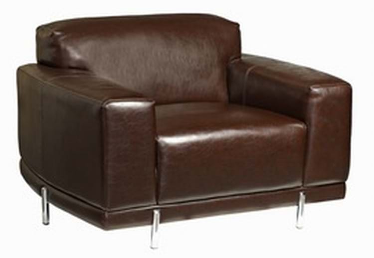 Contemporary Dark Brown Leather Pub Contract Armchairs