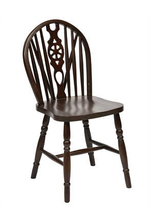 High Quality Wheelback Chair in Dark Oak from Trent Furniture | Restaurant Chair