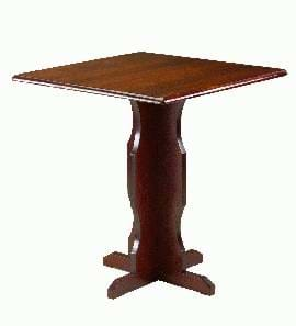 High Quality Square Dark Oak Cruciform Table from Trent Furniture | Pub Table