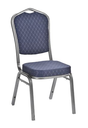 High Quality Richmond Sliver Framed Stacking Restaurant Chair from Trent Furniture