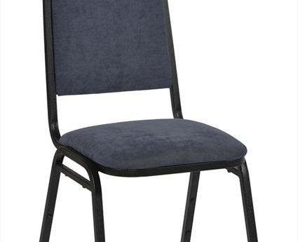 Cambridge Deluxe Steel Stacking Chair with Black Frame