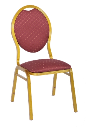 High Quality Gold Framed Aluminium Stacking Banquet Chair from Trent Furniture
