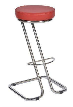 Z American Diner Stool Red Seat pad