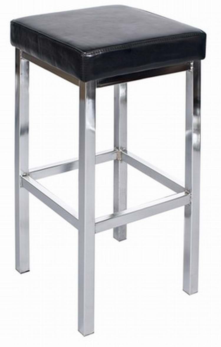Tall dakota chrome bar stool pub chairs by trent furniture